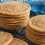 Thin Chewy Brown Sugar Cookies Pin